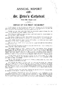 Annual Report of St. Peter's Cathedral for the Year 1951