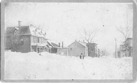 Winter street scene photograph