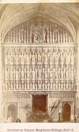 Interior of Chapel Magdalen College, Oxford photograph