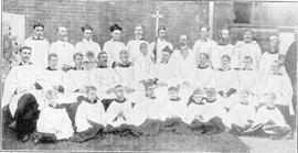 Clergy and Choir of Silver Jubilee group photograph