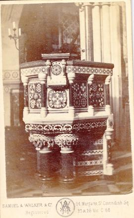 Church pulpit photograph