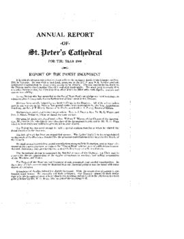 Annual Report of St. Peter's Cathedral for the Year 1950