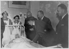 Reverend Canon E. M. Malone and Red Cross patient photograph