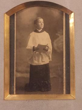 Unidentified choir boy photograph