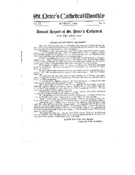 Annual Report of St. Peter's Cathedral for the Year 1931