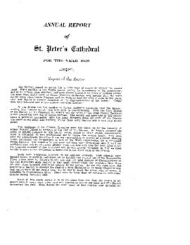 Annual Report of St. Peter's Cathedral for the Year 1958