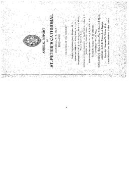Annual Report of St. Peter's Cathedral, Charlottetown, P. E. Island, 1902-1903