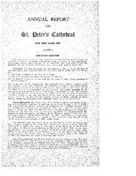 Annual Report of St. Peter's Cathedral for the Year 1953