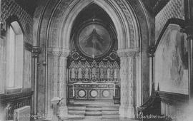 All Souls' Chapel interior postcard and original photograph