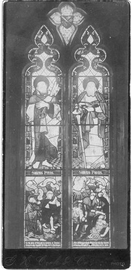 St. Peter's Cathedral memorial stained glass window photographs
