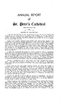 Annual Report of St. Peter's Cathedral for the Year 1956