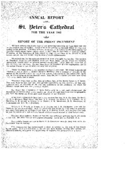Annual Report of St. Peter's Cathedral for the Year 1942