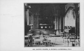 All Souls' Chapel interior postcard