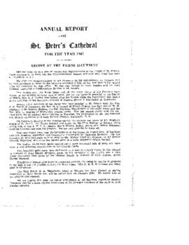 Annual Report of St. Peter's Cathedral for the Year 1947