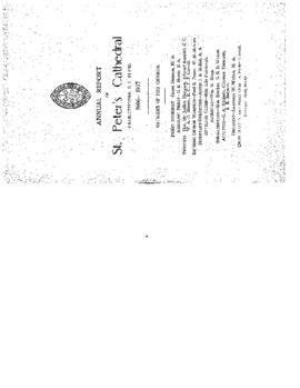 Annual Report of St. Peter's Cathedral, Charlottetown, P. E. Island, 1906-1907