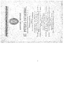 Annual Report of St. Peter's Cathedral, Charlottetown, P. E. I., 1893-1894